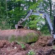 Le bunker de tir en travaux