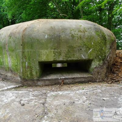 The firing bunker once the works done
