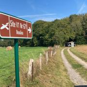 Entrée du site V1 de Campneuseville - Beaulieu
