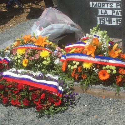 The grave at the end of the tribute ceremony