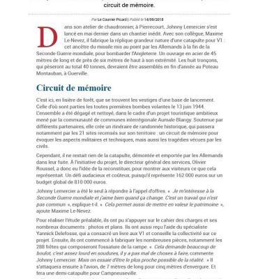 Le Courrier Picard - 14.09.2018
