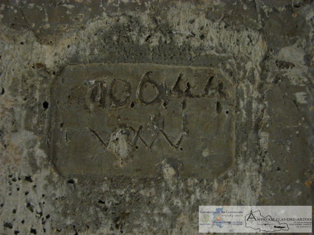 A signature inscribed during the site construction